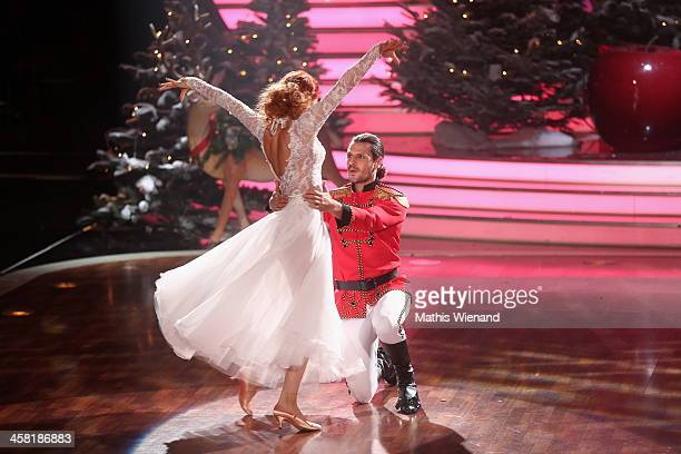 Manuel Cortez and Oana Nechiti attend the 'Let's Dance Let's Christmas' Show on December 20 2013 in Cologne Germany