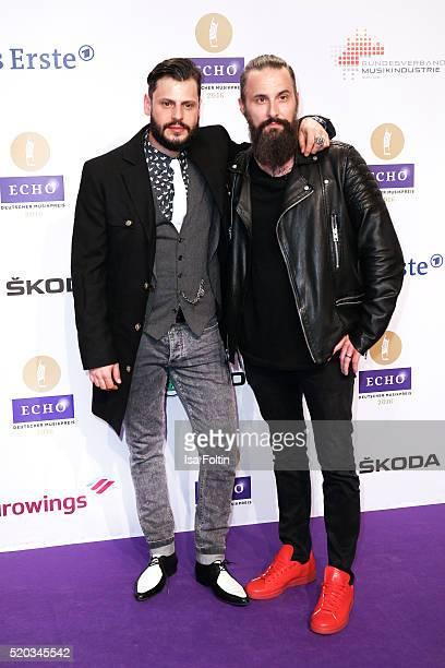Manuel Cortez and Tobias Bojko attend the Echo Award 2016 on April 07 2016 in Berlin Germany