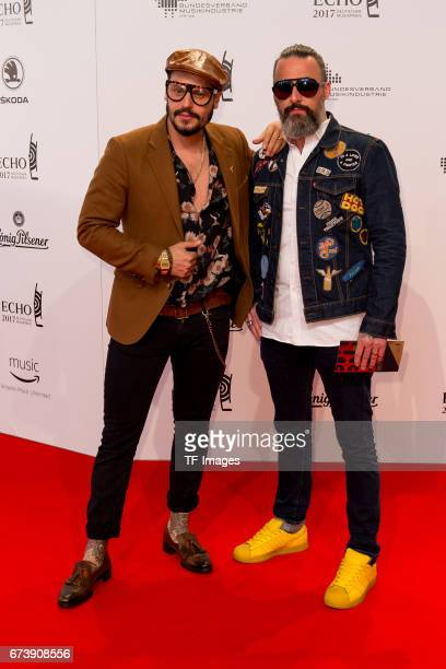 Manuel Cortez and Tobias Bojko on the red carpet during the ECHO German Music Award in Berlin Germany on April 06 2017
