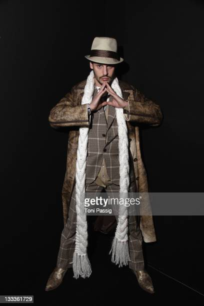 Manuel Cortez arrives at the Kilian Kerner Fashion Show during the MercedesBenz Fashion Week Berlin Autumn/Winter 2010 at the Bebelplatz on January...