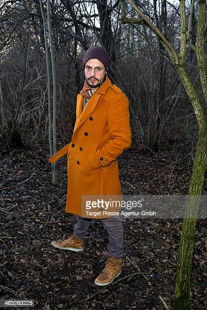 Manuel Cortez arrives to the Marina Hoermanseder show during MercedesBenz Fashion Week Autumn/Winter 2014/15 at Brandenburg Gate on January 17 2014...