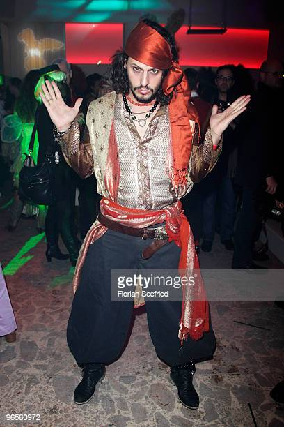 Manuel Cortez as pirat attends the 'Zweiohrkueken GoldKostuemparty' at China Loung on February 10 2010 in Berlin Germany