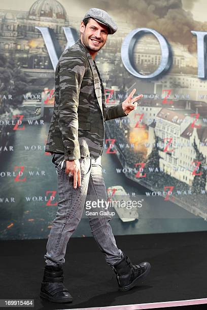 Manuel Cortez attends 'WORLD WAR Z' Germany Premiere at Sony Centre on June 4 2013 in Berlin Germany