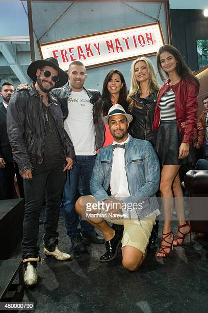 Manuel Cortez Daniel Weichel Fernanda Brandao Patrice Bouebibela Sophia Thomalla and Shermine Sharivar attend the presentation of Sophia Thomalla...