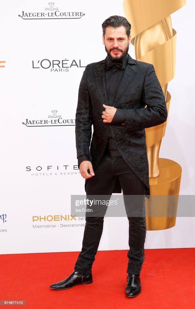 Manuel Cortez during the Lola - German Film Award red carpet arrivals at Messe Berlin on April 28, 2017 in Berlin, Germany.