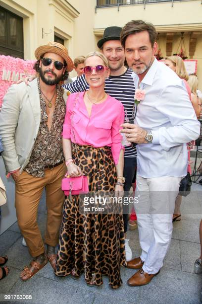 Manuel Cortez Miyabi Kawai Martin Stange and Tobey Wilson during the Grazia Pink Hour at Titanic Hotel on July 4 2018 in Berlin Germany