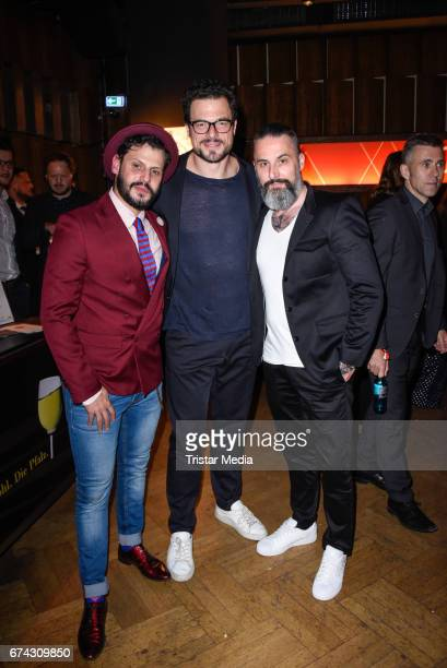 Manuel Cortez Tobias Licht and Tobias Bojko attend the New Faces Award Film at Haus Ungarn on April 27 2017 in Berlin Germany