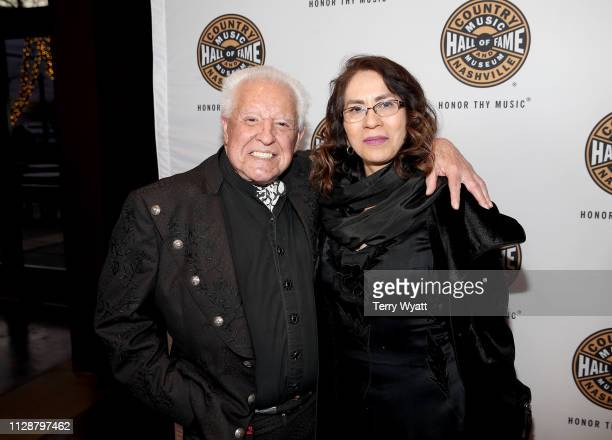Manuel Cuevas and Morelia Cuevas attend the Country Music Hall of Fame and Museum's new exhibition American Currents The Music of 2018 on March 5...