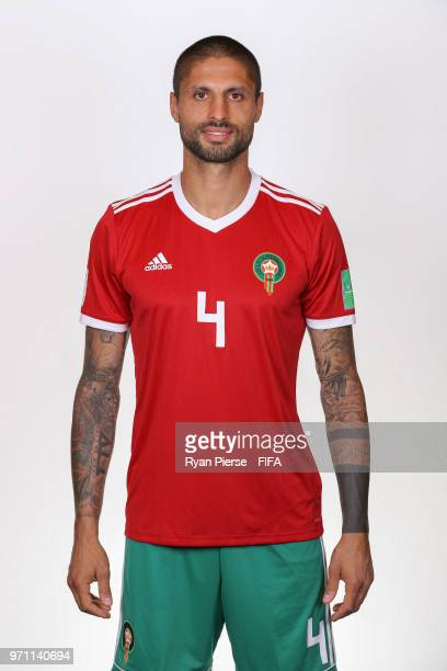 Manuel Da Costa of Morocco poses during the official FIFA World Cup 2018 portrait session on June 10 2018 in Voronezh Russia