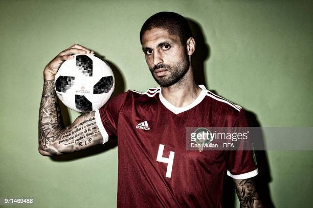 Manuel Da Costa of Morocco poses for a portrait during the official FIFA World Cup 2018 portrait session at on June 10 2018 in Voronezh Russia