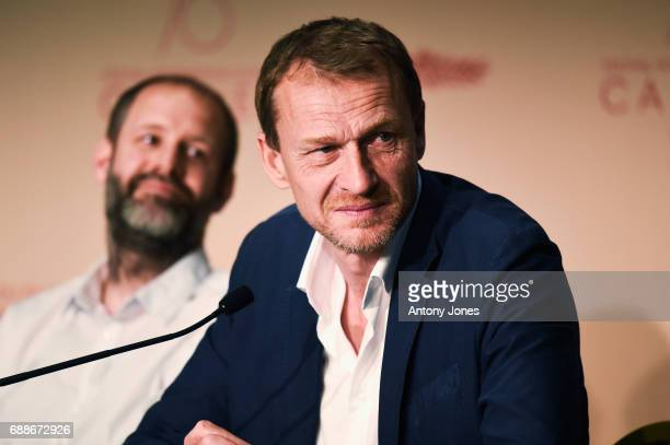 Manuel Dacosse and Nicolas Altmayer attend the 'Amant Double ' Press Conferenceduring the 70th annual Cannes Film Festival at Palais des Festivals on...