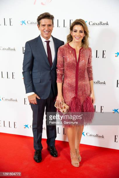 Manuel Diaz 'El Cordobés' and Virginia Troconis attend 'Elle 75th Anniversary' photocall at Centro Centro on December 15, 2020 in Madrid, Spain.
