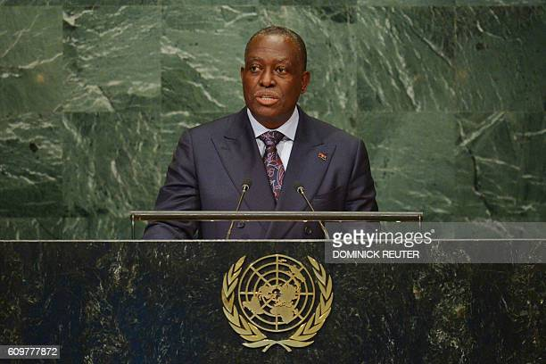 Manuel Domingos Vicente VicePresident of Angola addresses the 71st session of the United Nations General Assembly at the UN headquarters in New York...