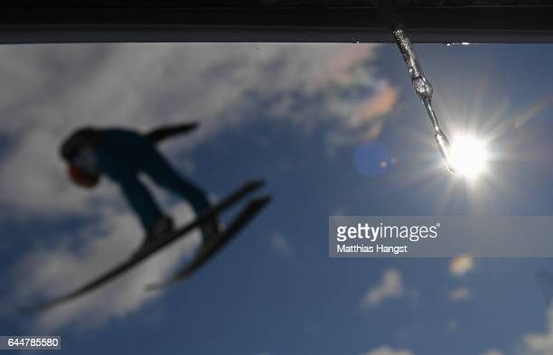 Manuel Faisst of Germany competes in the Men's Nordic Combined HS100 during the FIS Nordic World Ski Championships on February 24 2017 in Lahti...