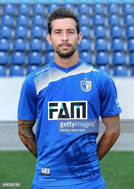 Manuel Farrona Pulido poses during the team presentation of 1 FC Magdeburg at MDCCArena on July 7 2016 in Magdeburg Germany Manuel Farrona Pulido