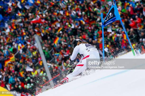 Manuel Feller of Austria competes during the Audi FIS Alpine Ski World Cup Men's Giant Slalom on January 28 2018 in GarmischPartenkirchen Germany