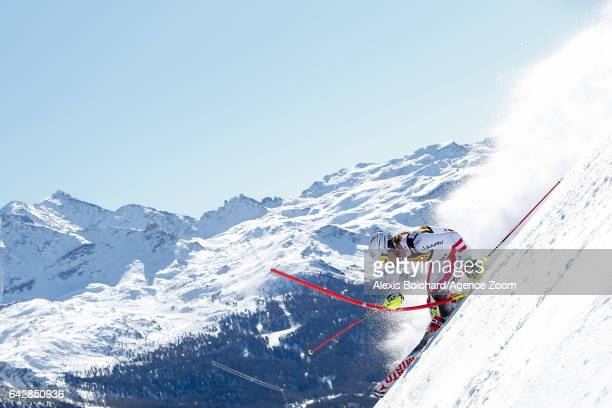 Manuel Feller of Austria competes during the FIS Alpine Ski World Championships Men's Slalom on February 19 2017 in St Moritz Switzerland