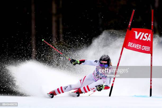 Manuel Feller of Austria competes in the Audi Birds of Prey World Cup Men's Giant Slalom on December 3 2017 in Beaver Creek Colorado