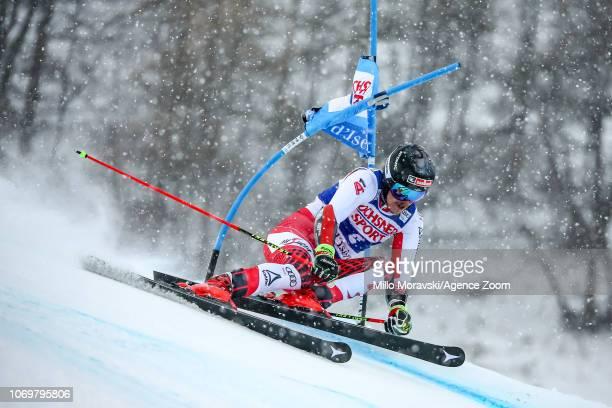 Manuel Feller of Austria during the Audi FIS Alpine Ski World Cup Men's Giant Slalom on December 8, 2018 in Val d'Isère France.