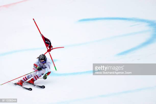 Manuel Feller of Austria takes 2nd place during the Audi FIS Alpine Ski World Cup Men's Giant Slalom on January 28 2018 in GarmischPartenkirchen...