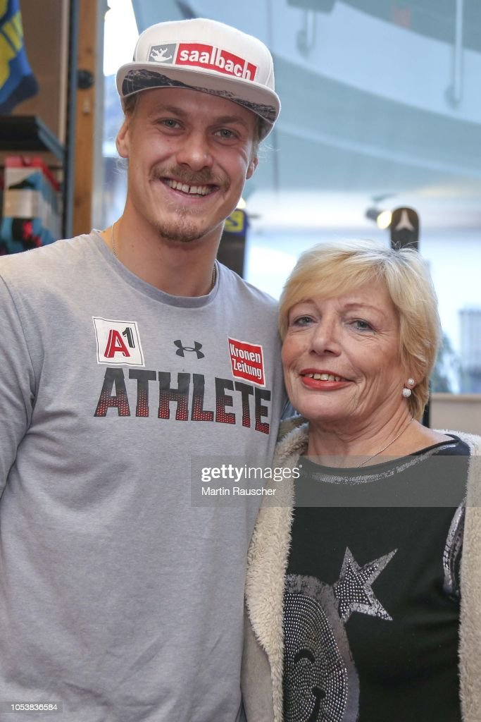 Manuel Feller Of Austria With Fan During Press Conference Before The News Photo Getty Images