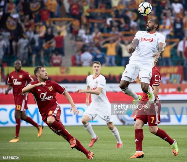 Manuel Fernandes of FC Lokomotiv Moscow in actions during the Russian Premier League match between FC Lokomotiv Moscow and FC Arsenal Tula at...