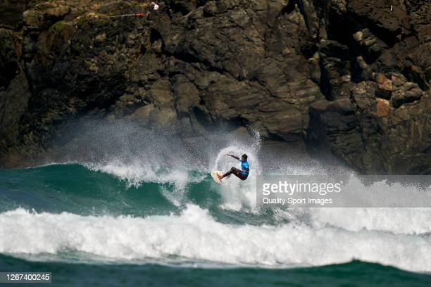 Manuel Fernandez of Spain surfing in Qualifying Round 1 of the ABANCA Pantin Classic Galicia Pro on August 20, 2020 in Pantin Beach, La Coruna, Spain.