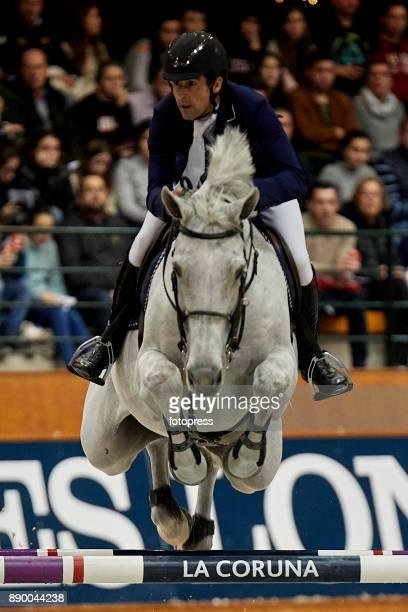Manuel Fernandez Saro attends during CSI Casas Novas Horse Jumping Competition on December 10 2017 in A Coruna Spain