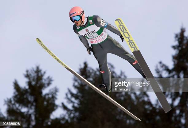 Manuel Fettner of Austria competes during the FIS Ski Jumping World Cup on December 09 2017 in TitiseeNeustadt Germany