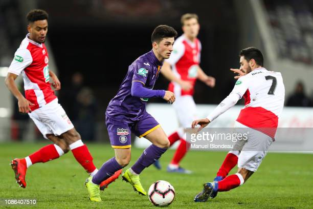 Manuel Garcia Alonso of Toulouse during the French Cup match between Toulouse and Reims at Stadium Municipal on January 22 2019 in Toulouse France