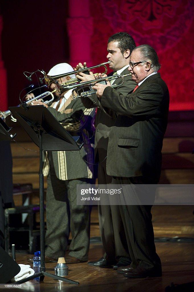 Manuel Guajiro Mirabal of Orquesta Buena Vista Social Club performs on stage during Voll-Damm Festival Internacional de Jazz de Barcelona at Palau De La Musica on November 21, 2012 in Barcelona, Spain.