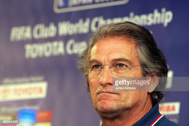 Manuel Jose head coach of African Champions League winners Al Ahly of Egypt attends a press conference on December 6 2005 in Tokyo Japan The Egyptian...