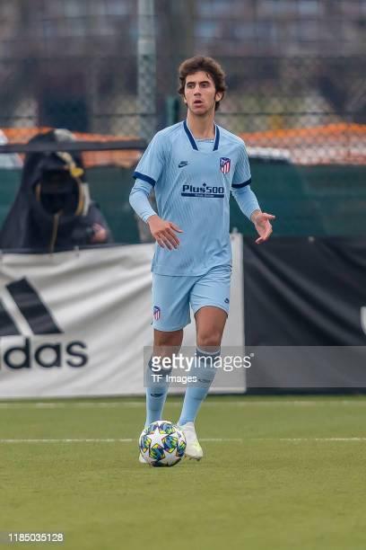 Manuel Lama Maroto of Atletico Madrid controls the ball during the UEFA Youth League match between Juventus U19 and Atletico Madrid U19 on November...