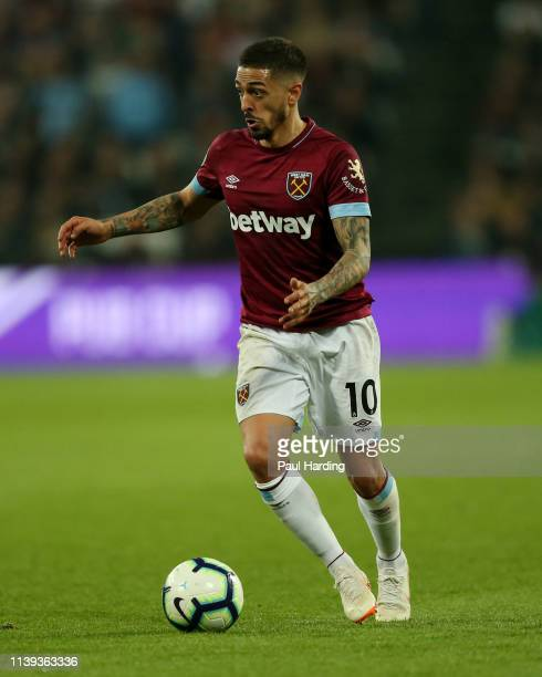 Manuel Lanzini of West Ham United during the Premier League match between West Ham United and Everton FC at London Stadium on March 30 2019 in London...