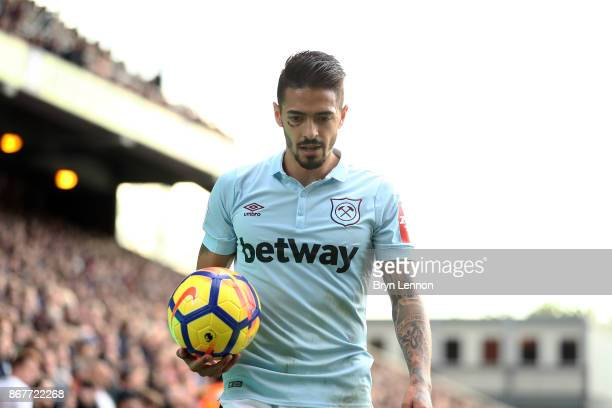 Manuel Lanzini of West Ham United looks on during the Premier League match between Crystal Palace and West Ham United at Selhurst Park on October 28...