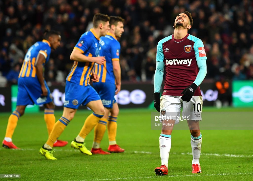 West Ham United v Shrewsbury Town - The Emirates FA Cup Third Round Replay