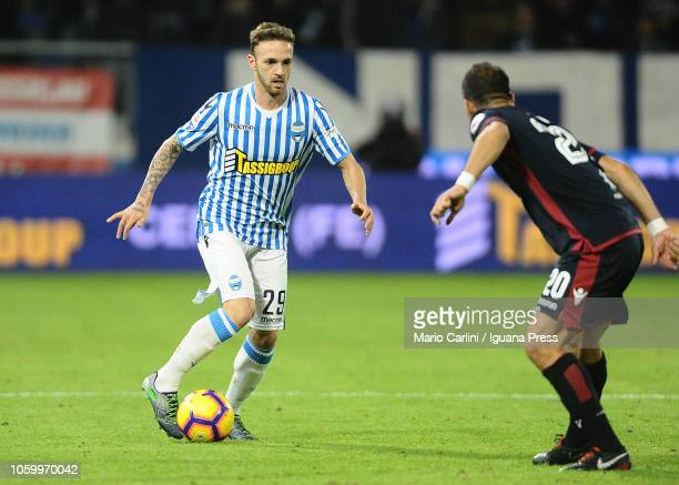 Manuel Lazzari of SPAL in action during the Serie A match between SPAL and Cagliari at Stadio Paolo Mazza on November 11 2018 in Ferrara Italy