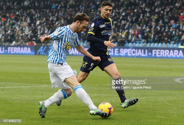 Manuel Lazzari of SPAL in action during the Serie A match between SPAL and Chievo Verona at Stadio Paolo Mazza on December 16, 2018 in Ferrara, Italy.