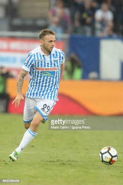 Manuel Lazzari of Spal in action during the Serie A match between Spal and SSC Napoli at Stadio Paolo Mazza on September 23, 2017 in Ferrara, Italy.