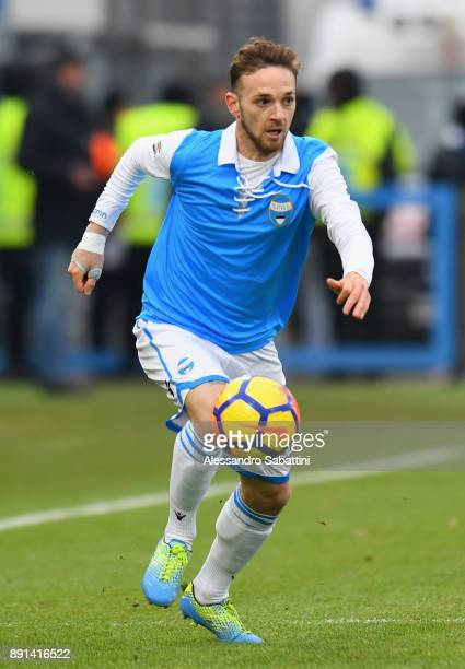Manuel Lazzari of Spal in action during the Serie A match between Spal and Hellas Verona FC at Stadio Paolo Mazza on December 10, 2017 in Ferrara,...