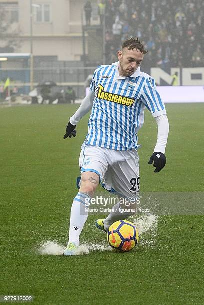 Manuel Lazzari of Spal in action during the serie A match between Spal and Bologna FC at Stadio Paolo Mazza on March 3, 2018 in Ferrara, Italy.