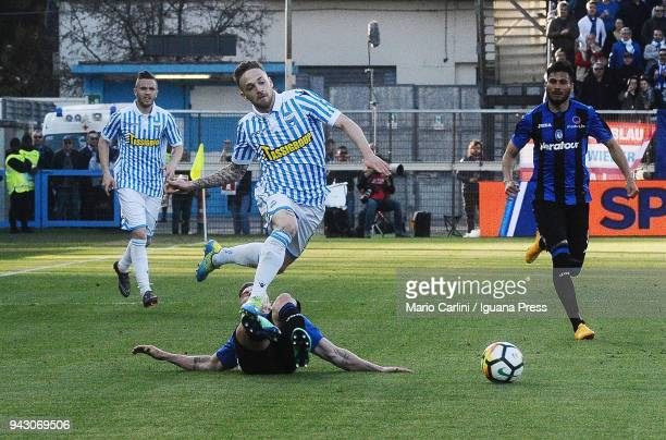 Manuel Lazzari of Spal in action during the serie A match between Spal and Atalanta BC at Stadio Paolo Mazza on April 7, 2018 in Ferrara, Italy.