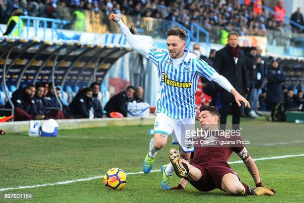 Manuel Lazzari of Spal in action during the serie A match betweenSpal and Torino FC at Stadio Paolo Mazza on December 23, 2017 in Ferrara, Italy.