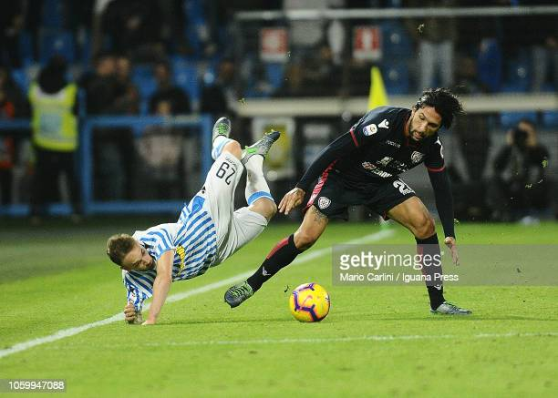 Manuel Lazzari of SPAL reacts during the Serie A match between SPAL and Cagliari at Stadio Paolo Mazza on November 11 2018 in Ferrara Italy