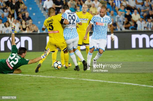Manuel Lazzari of Spal scores his team's second goal during the Serie A match between Spal and Udinese Calcio at Stadio Paolo Mazza on August 27 2017...