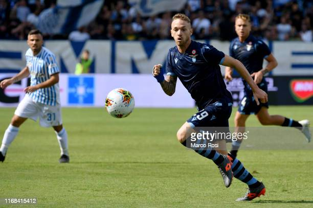 Manuel Lazzari of SS Lazio in action during the Serie A match between SPAL and SS Lazio at Stadio Paolo Mazza on September 15, 2019 in Ferrara, Italy.