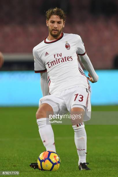Manuel Locatelli of AC Milan during the Serie A TIM match between SSC Napoli and AC Milan at Stadio San Paolo Naples Italy on 18 November 2017