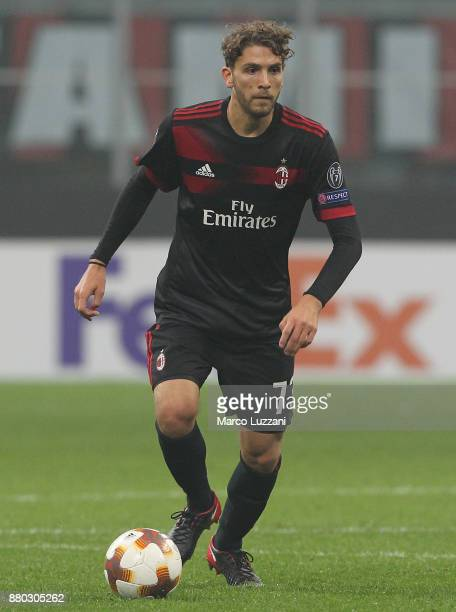Manuel Locatelli of AC Milan in action during the UEFA Europa League group D match between AC Milan and Austria Wien at Stadio Giuseppe Meazza on...