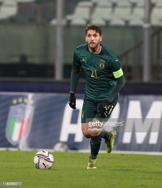Manuel Locatelli of Italy during the UEFA U21 European Championship Qualifier match between Italy and Armenia at Stadio Angelo Massimino on November...