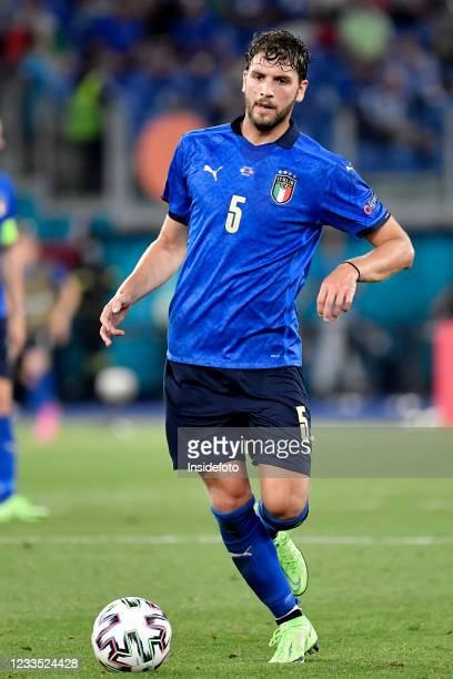 Manuel Locatelli of Italy in action during the Uefa Euro 2020 Group A football match between Italy and Switzerland. Italy won 3-0 over Switzerland.